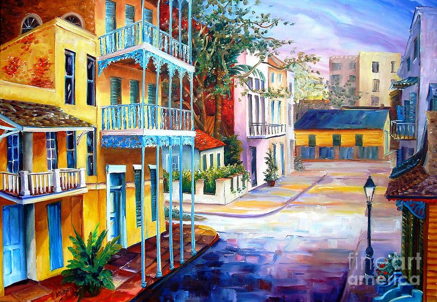 New Orleans Painting - French Quarter Sunrise by Diane Millsap