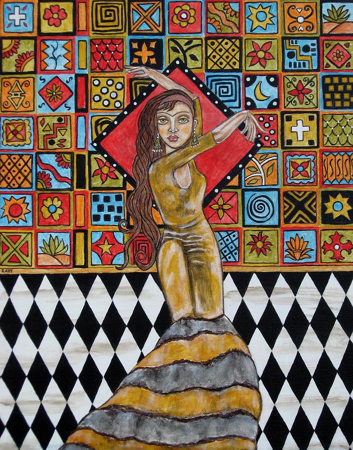 Frida Kahlo Painting by Rain Ririn
