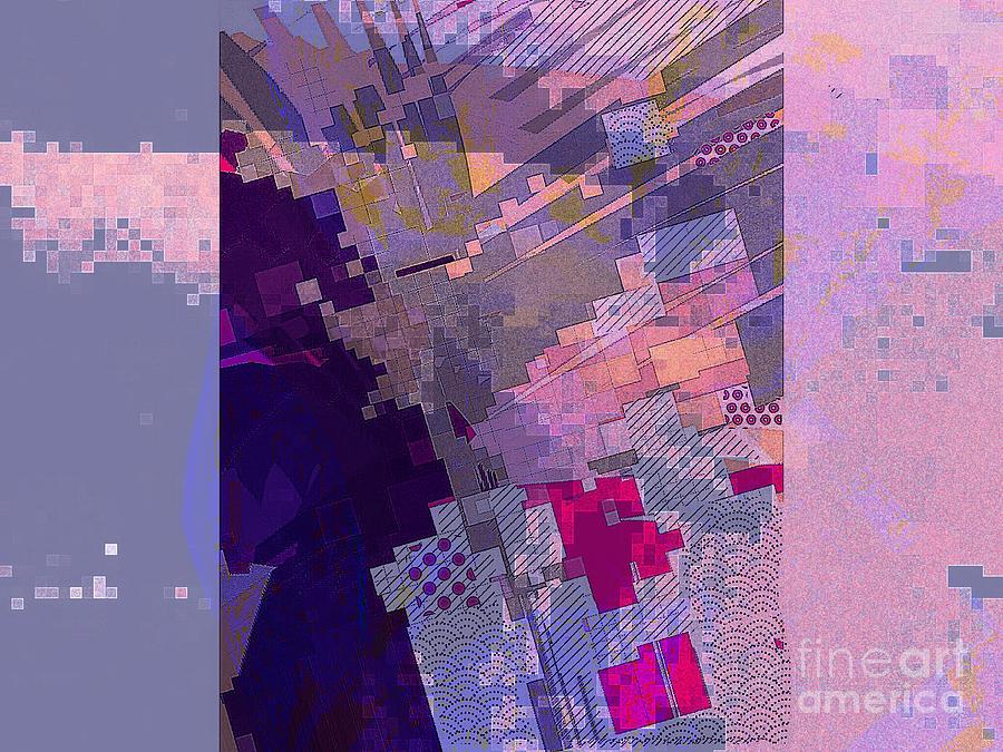 Geometric Digital Art - From Above by Cooky Goldblatt