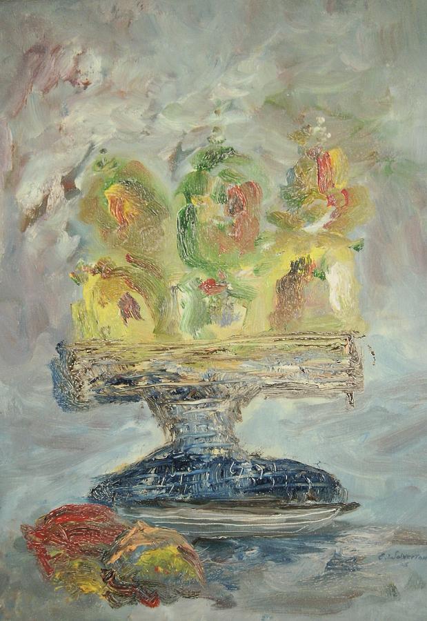 Still Life Painting - Fruit Basket by Edward Wolverton