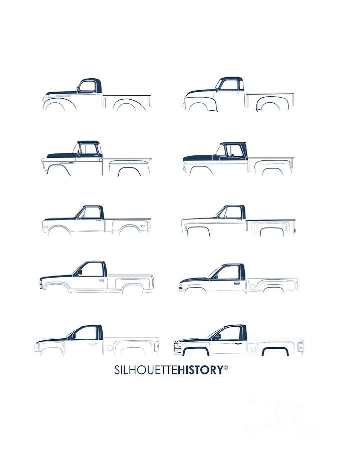 Fullsize Pickup Silhouettehistory Digital Art by Balazs Iker
