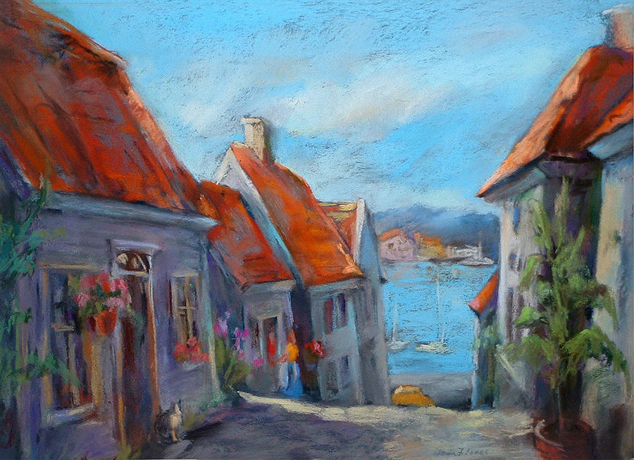Old Bergen Norway Painting - Gamle Bergen by Joan  Jones