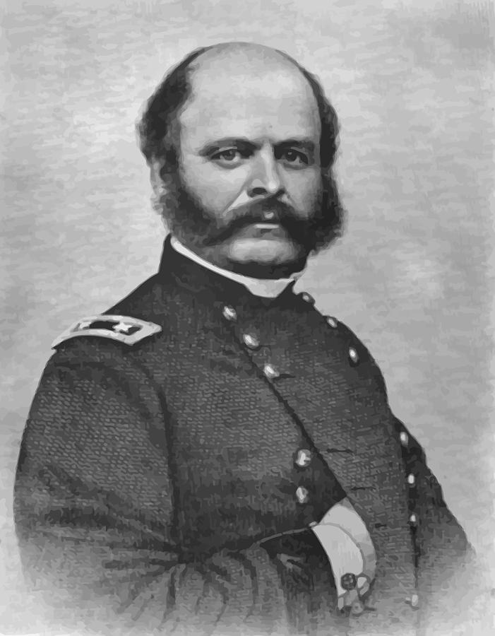 Ambrose Burnside Painting - General Burnside by War Is Hell Store