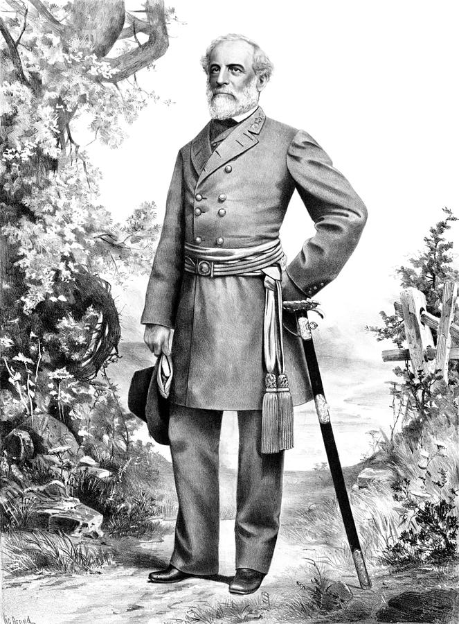 Robert E Lee Mixed Media - General Robert E Lee by War Is Hell Store