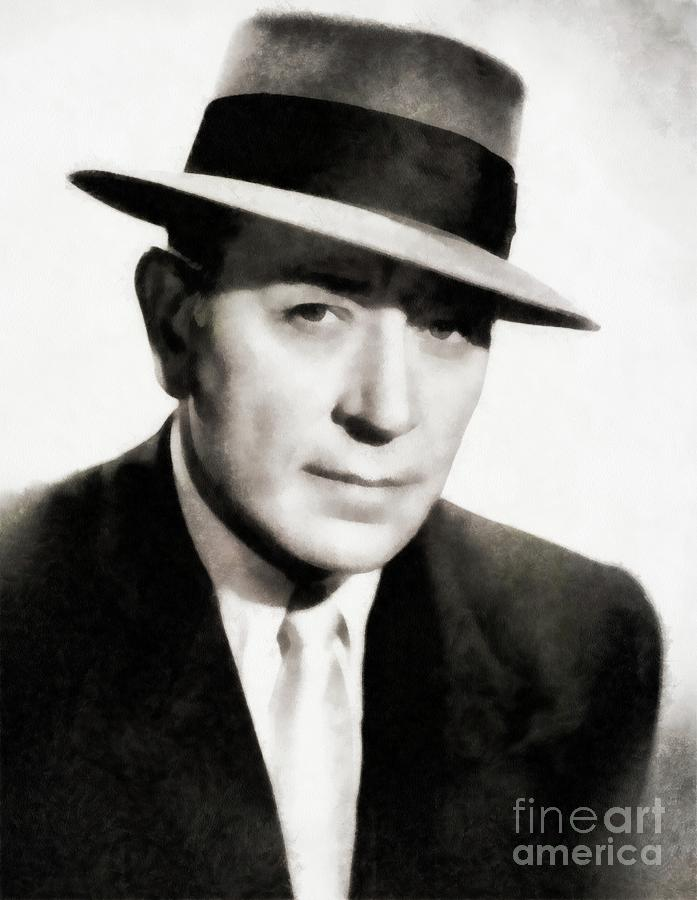 Hollywood Painting - George Raft, Vintage Actor By Js by John Springfield