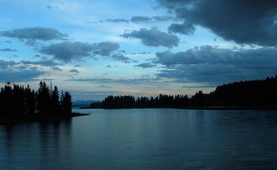 Clouds Photograph - Getting Dark by Linda Kerkau