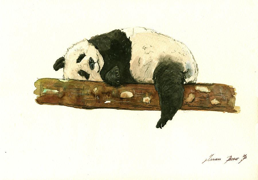 Giant Panda Painting - Giant Panda 2 by Juan Bosco