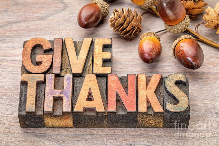 give thanks - Thanksgiving concept  by Marek Uliasz