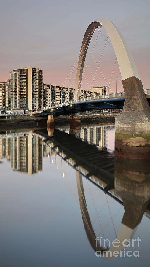 Glasgow Clyde Arc Bridge at Sunset by Maria Gaellman