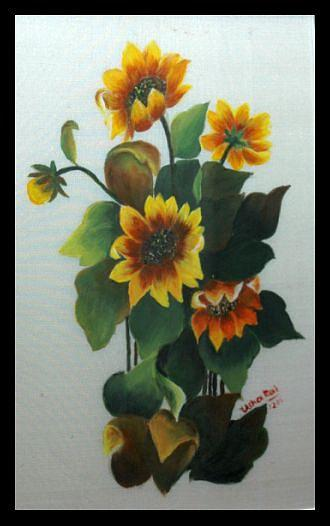 Flowers Painting - Glory Of Nature by Usha Rai