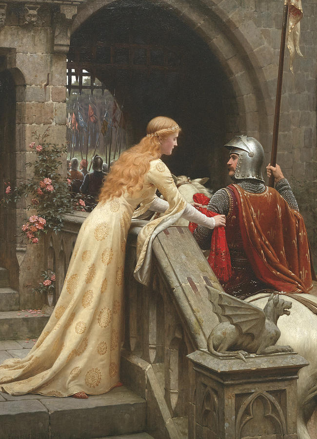 English Painters Painting - God Speed by Edmund Leighton