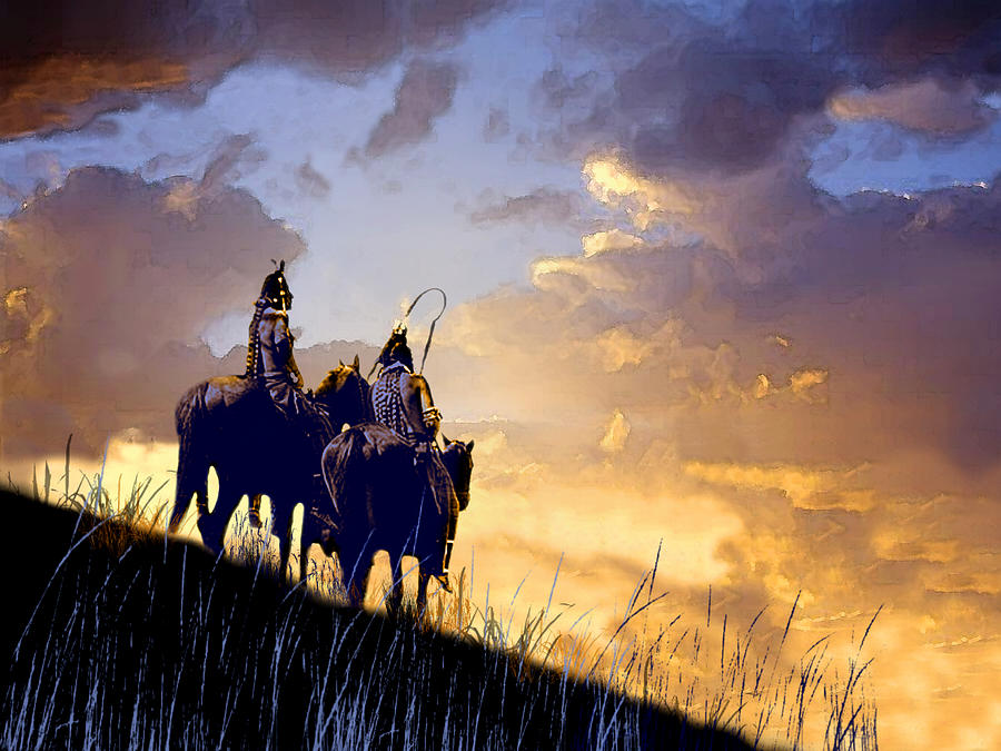 Native Americans Painting - Going Home by Paul Sachtleben