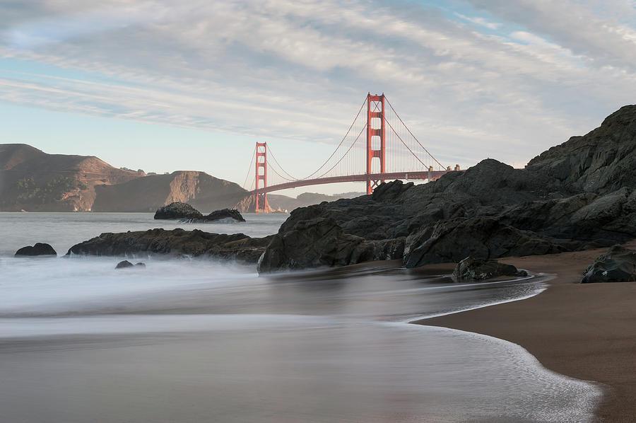 Golden Gate Bridge Photograph - Golden Gate Bridge by Wim Slootweg