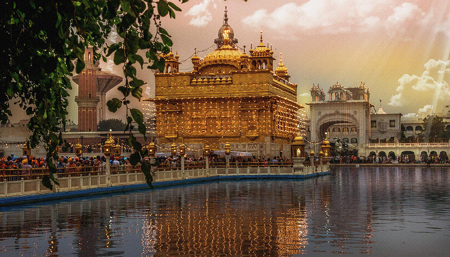 Reflection Photograph - Golden Temple  by Manjot Singh Sachdeva