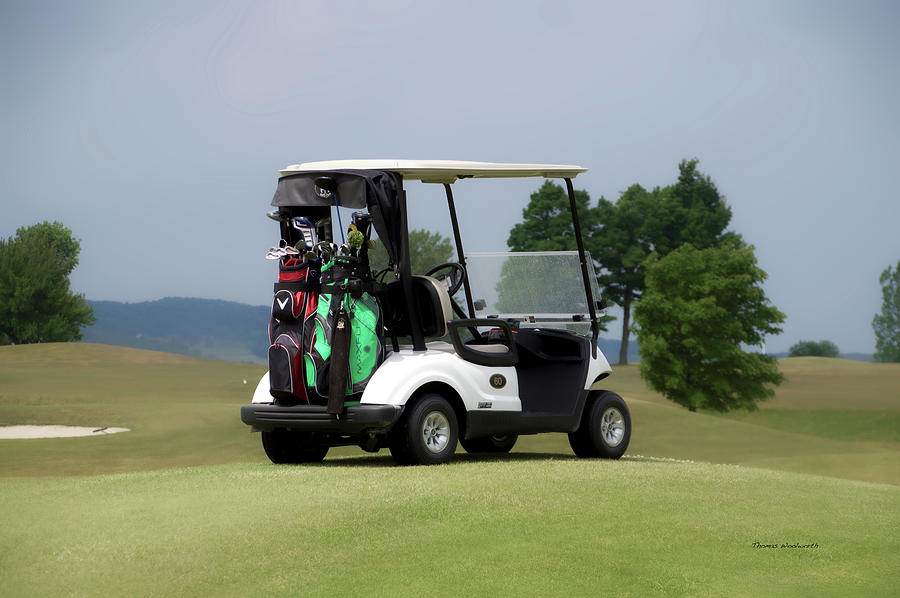 Tully New York Photograph - Golfing Golf Cart 04 by Thomas Woolworth