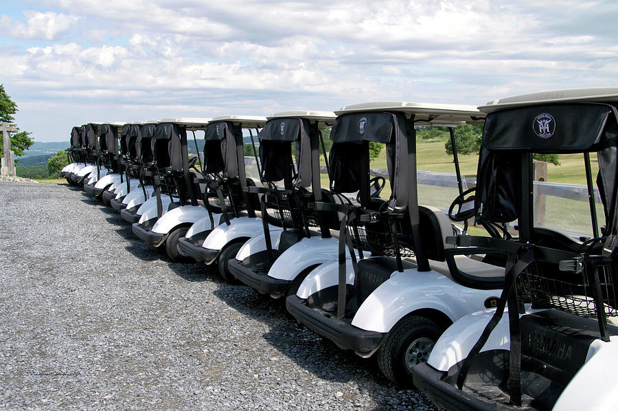 Tully New York Photograph - Golfing Golf Carts by Thomas Woolworth