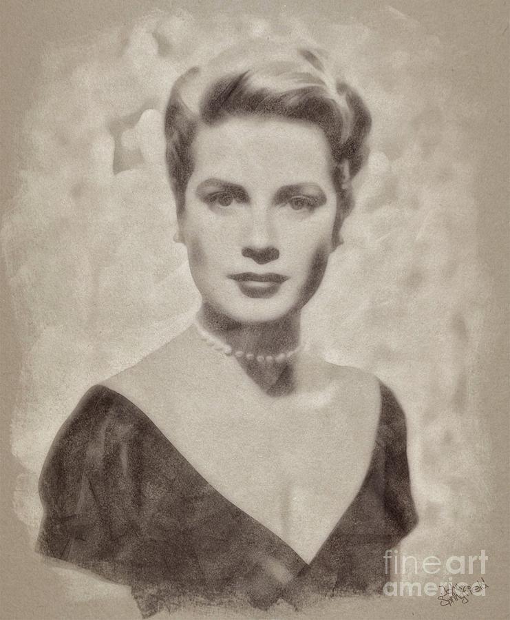 Grace Kelly, Actress And Princess Drawing