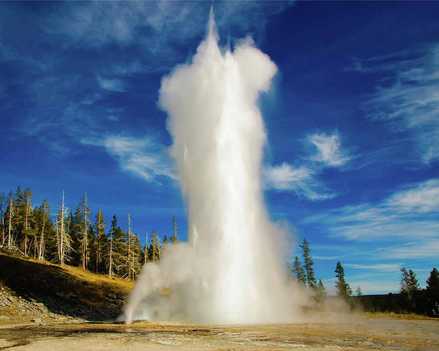 Grand Geyser Photograph - Grand Geyser by Norman Hall