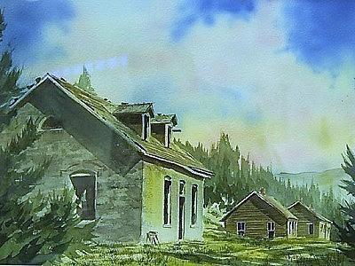Ghost Town Painting - Granite Ghost Town Montana by Kevin Heaney