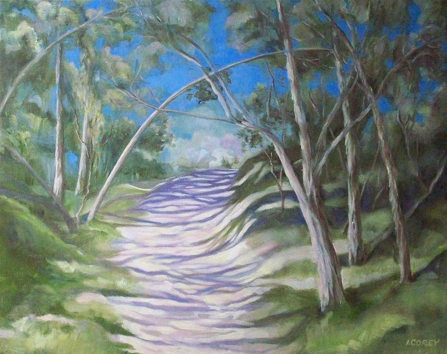 Nature Painting - Green Cathedral by Irene Corey