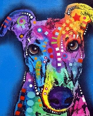 Greyhound Painting by Dean Russo