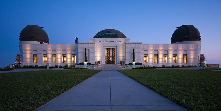 Afterglow Photograph - Griffith Observatory by Adam Romanowicz