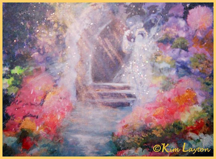 Angel Painting - Guardian Angel by Kim Layton