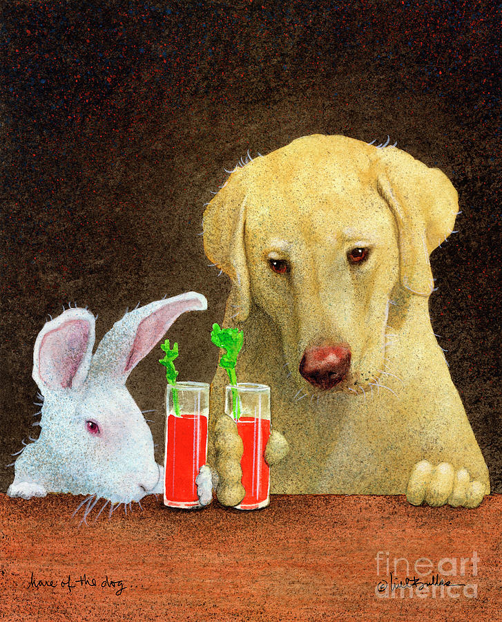 Will Bullas Painting - Hare Of The Dog... by Will Bullas