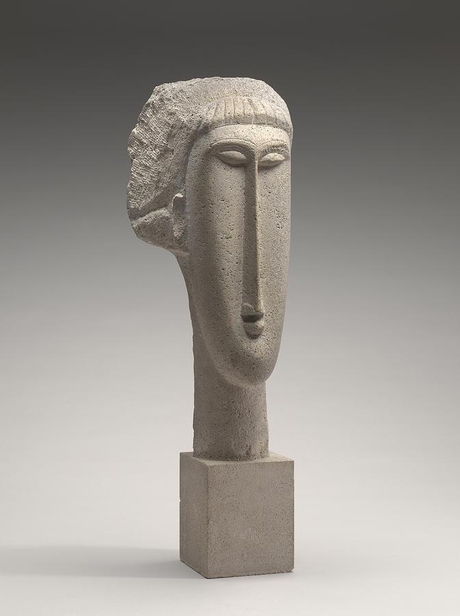 Amedeo Modigliani Sculpture - Head Of A Woman by Amedeo Modigliani