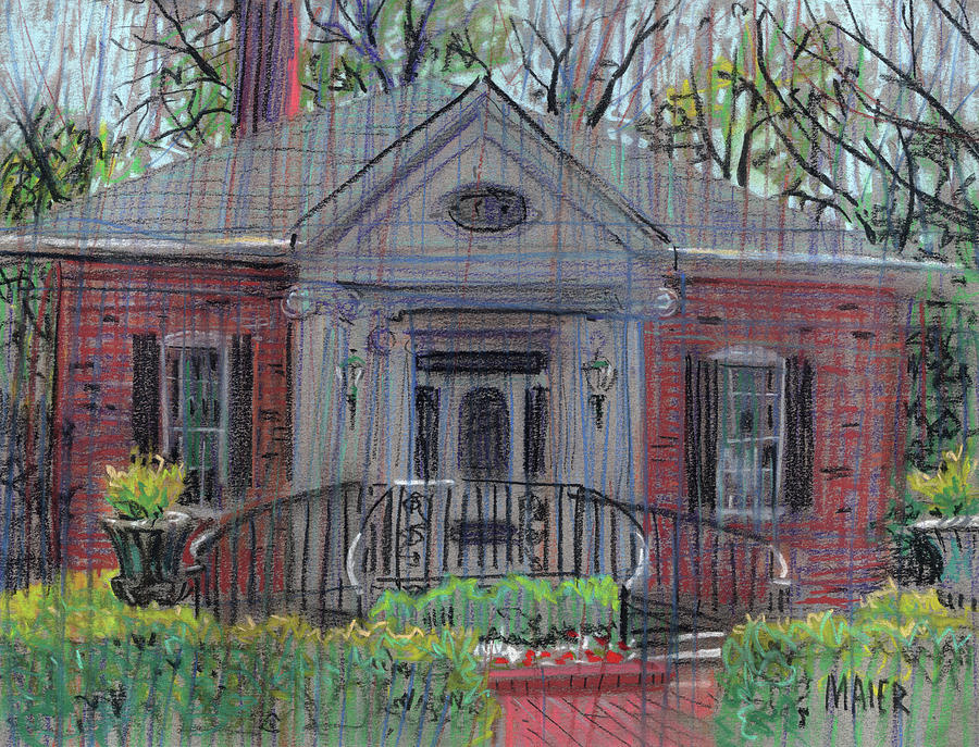 Pastel Drawing - Hiram Butler House by Donald Maier