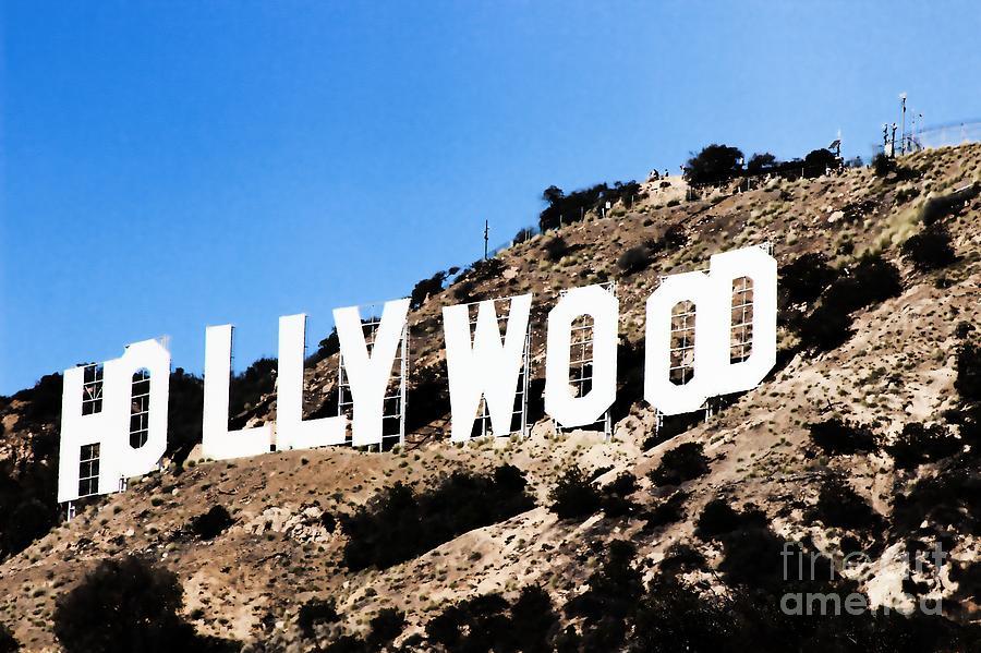Landmark Painting - Hollywood by RJ Aguilar