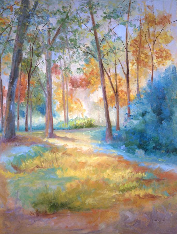 Wooded Paths Painting - Homeward by Ginger Concepcion