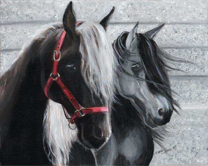 2 Horses Print by Shane Lieske