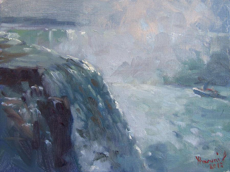 Horseshoe Falls Painting - Horseshoe Falls by Ylli Haruni