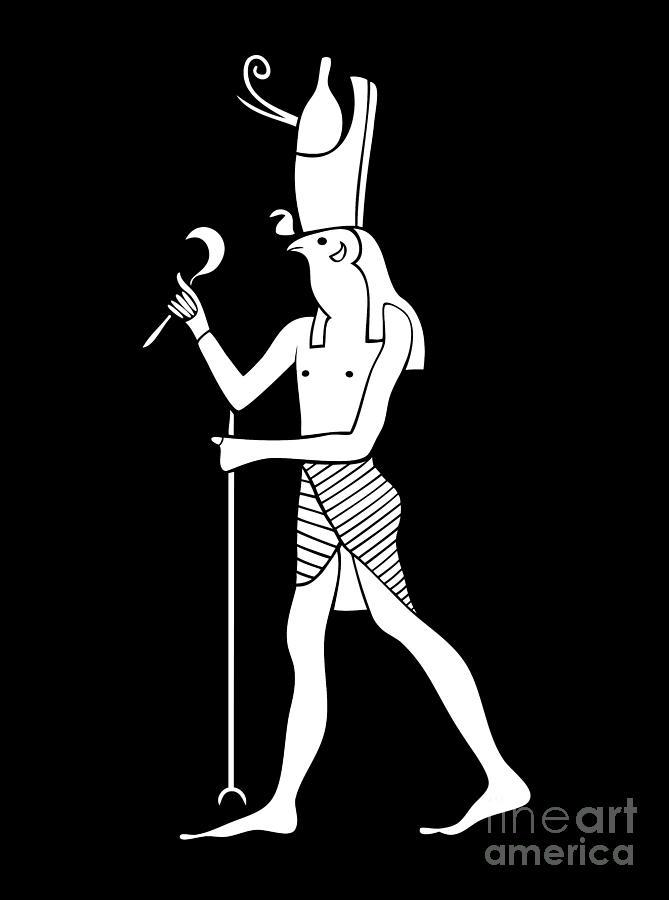 Horus Digital Art - Horus - God Of Ancient Egypt by Michal Boubin