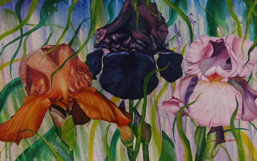 Flower Painting - I Thought Tulips by Shahid Muqaddim