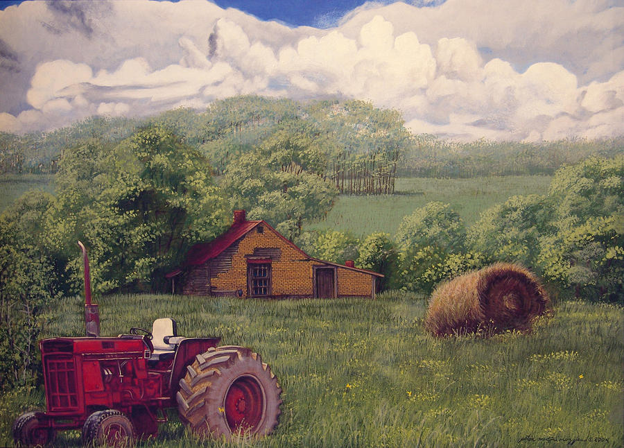 Landscape Painting - Idle In Godfrey Georgia by Peter Muzyka