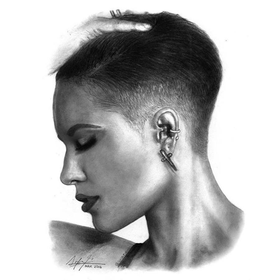 Portrait Drawing - Halsey Drawing By Sofia Furniel by Jul V