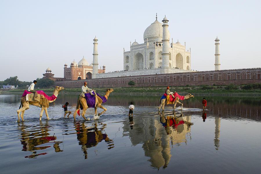 Taj Mahal Photograph - Indias Taj Mahal by Michele Burgess