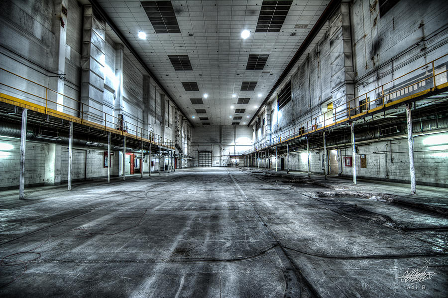 Warehouse Digital Art - Industrial by Adnan Bhatti