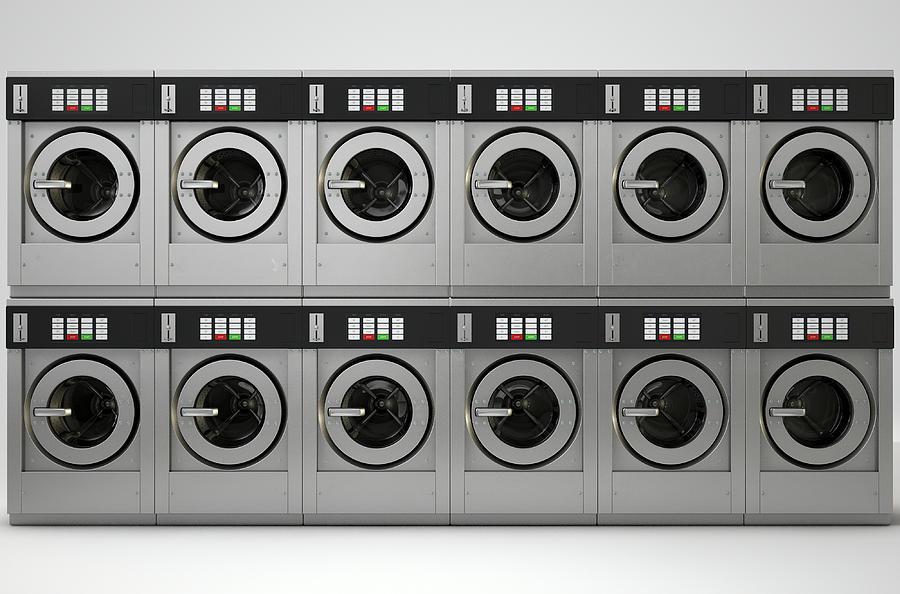 Washing Digital Art - Industrial Washing Machine by Allan Swart