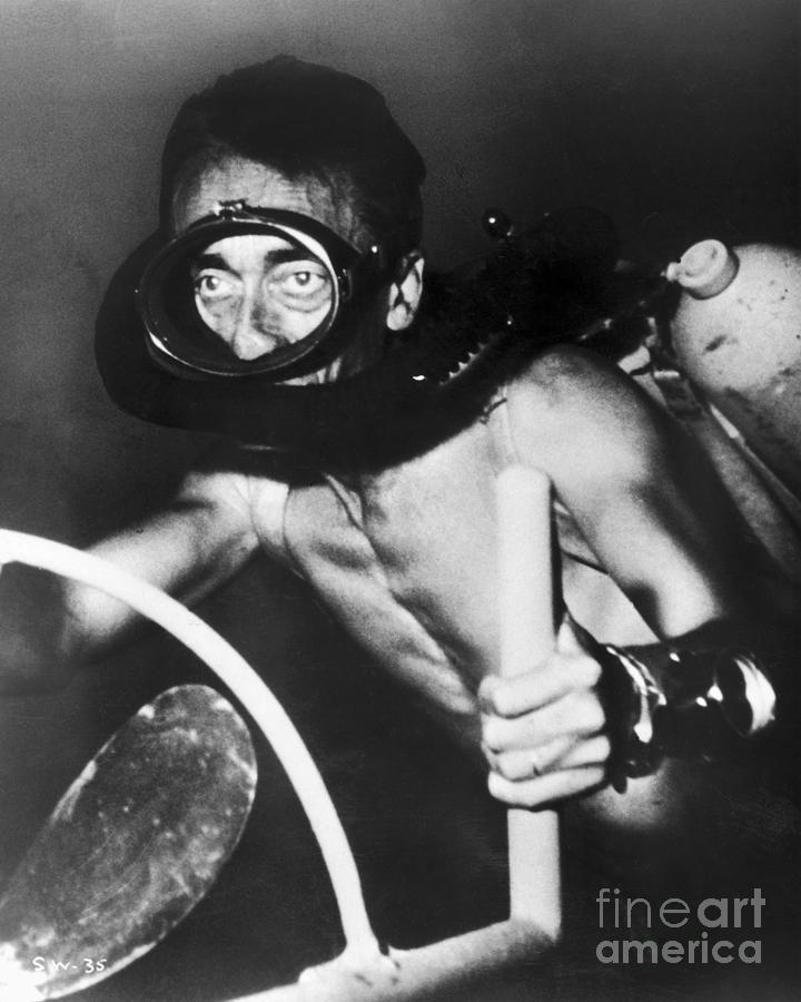 1954 Photograph - Jacques Cousteau (1910-1997) by Granger