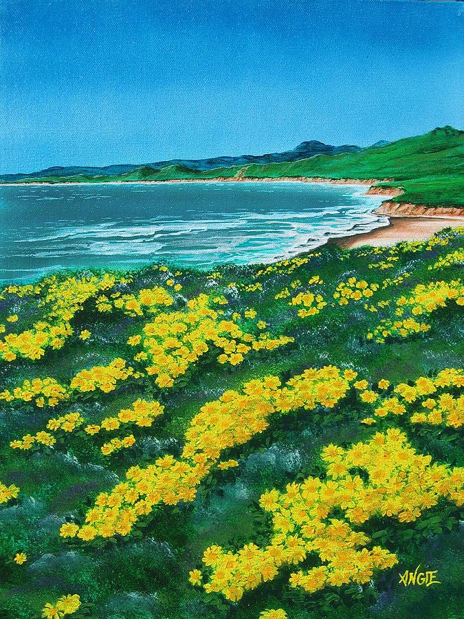 Jalama Painting - Jalama Beach by Angie Hamlin