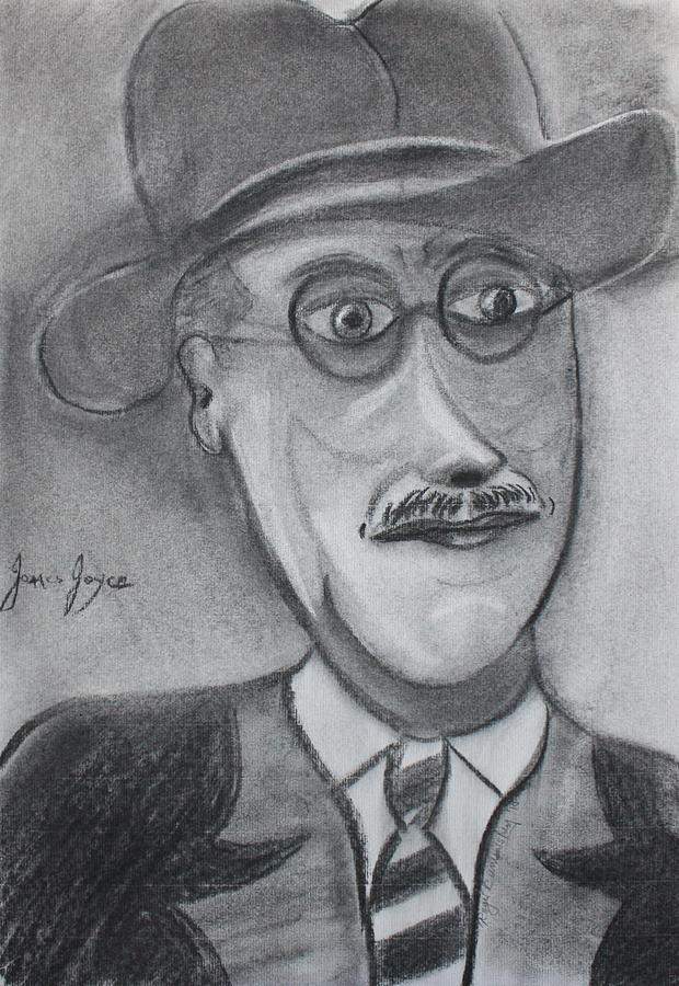 Drawing Painting - James Joyce by Roger Cummiskey