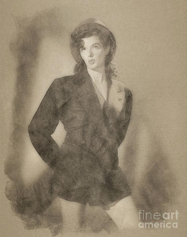 Jane Russell Hollywood Actress Drawing