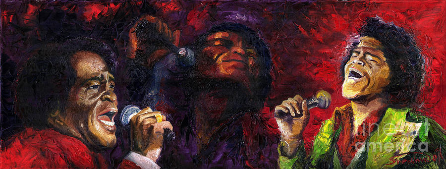 Jazz Painting - Jazz James Brown by Yuriy  Shevchuk