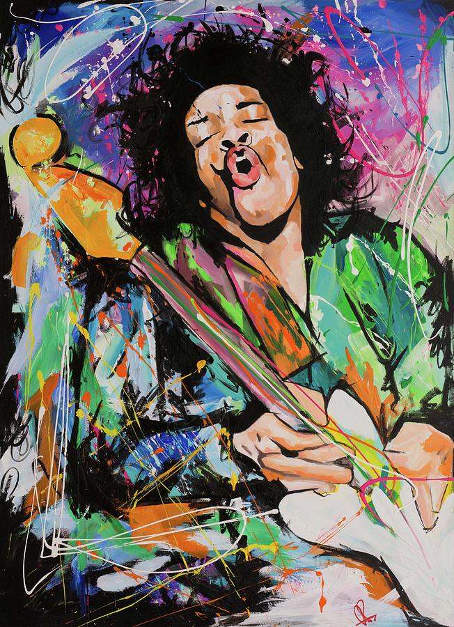 Jimi Painting - Jimi Hendrix by Richard Day
