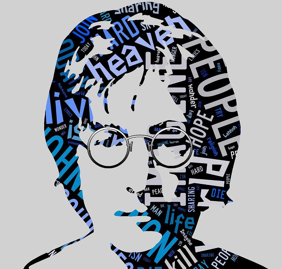 John Lennon Imagine Mixed Media By Marvin Blaine