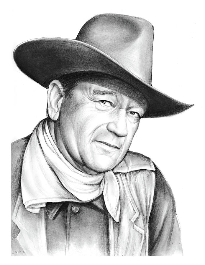 John Wayne Drawing