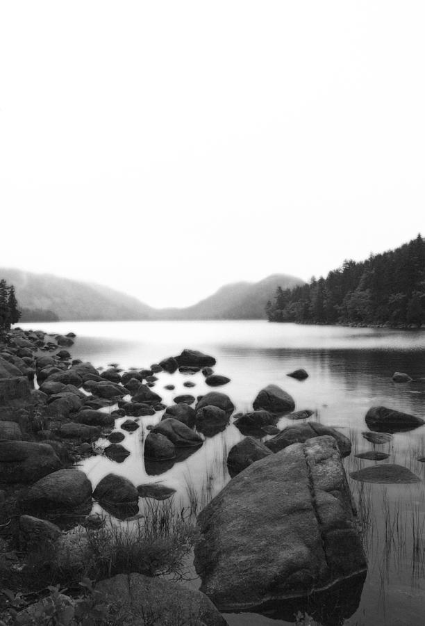 Black Photograph - Jordan Pond by Becca Brann